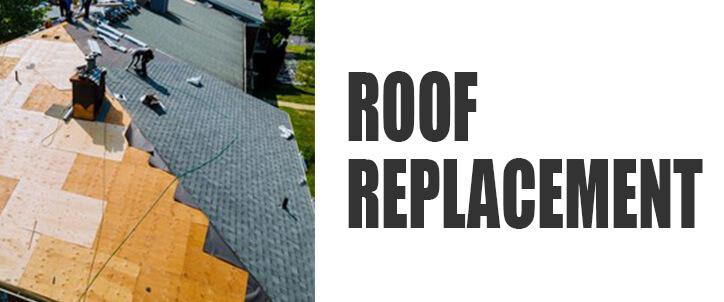 Roof Replacement man replacing roof