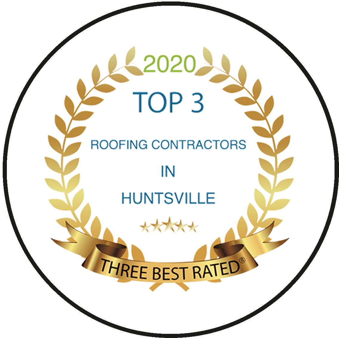 Top3 in hunstville 2020 award