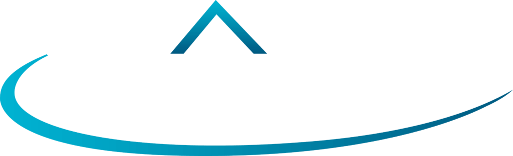 advanced roofing logo white