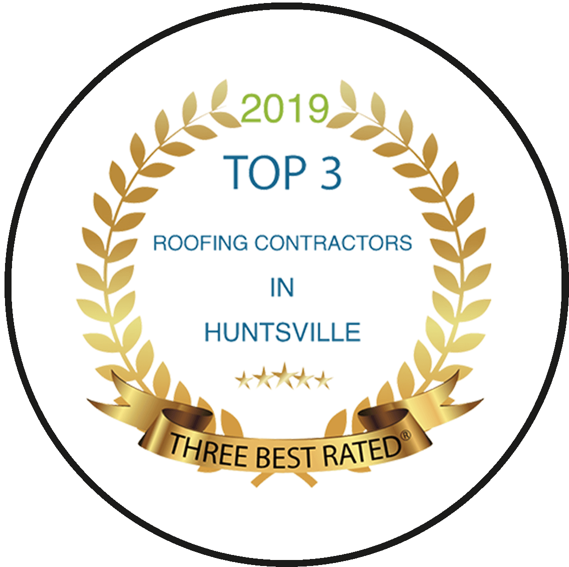 Top3 in hunstville 2019 award