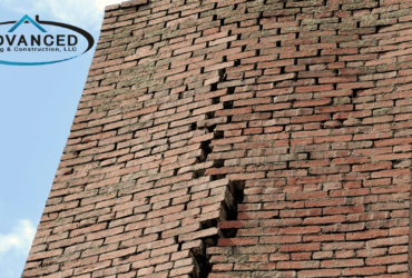 cracked brick chimney