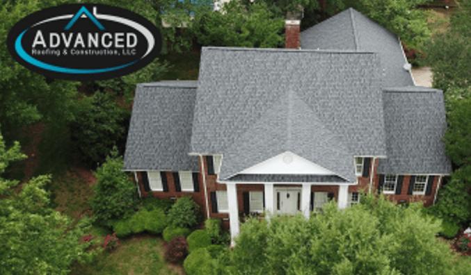 grey roof on medium home